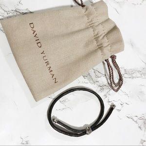 David Yurman Leather Adjustable Bracelet